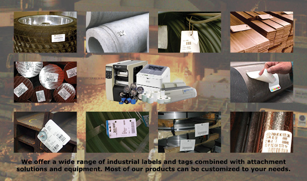 We sell the full range of industrial labels and tags as well as solutions to clips or welding guns.